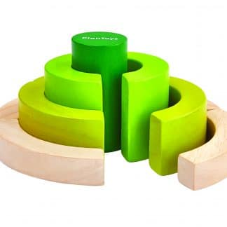 wooden curve building blocks