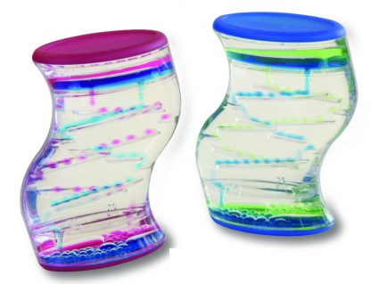liquid motion S-shaped dual color tumbler