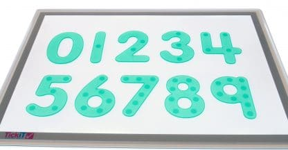 Silishapes Dot Numbers with dots on light panel