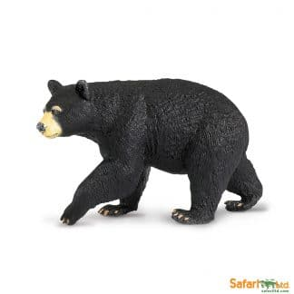 black bear wild animal play figure