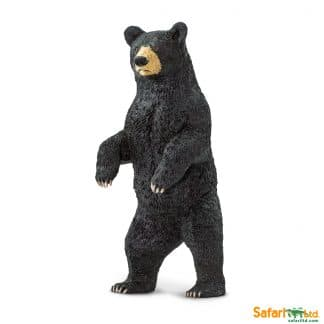 standing black bear wild animal play figure