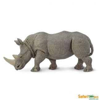 white rhino wild animal play figure