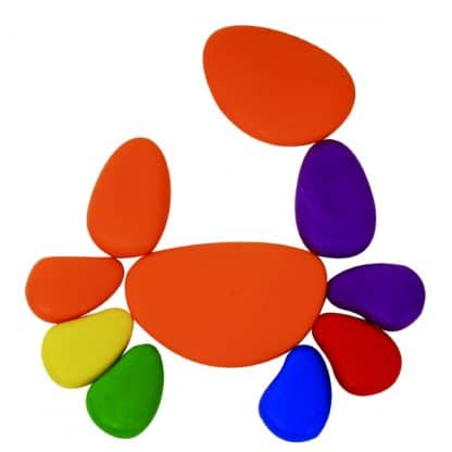 Rainbow Pebbles for building and patterning