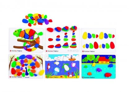 Rainbow Pebbles Activity Set pebbles and cards