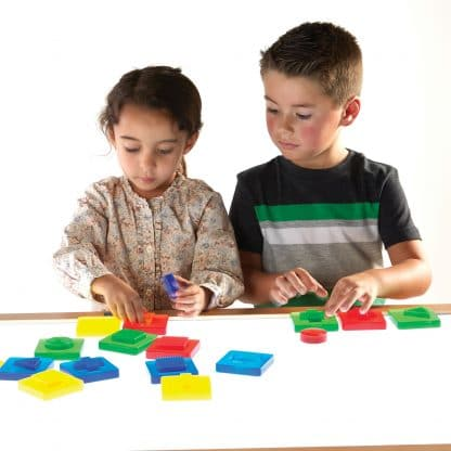 Discovery Shapes teach color, shape, tactile discrimination