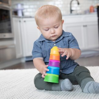 dimpl Stack silicone stacking and nesting toy