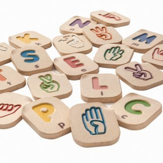 Sign Language Alphabet Tiles for learning hand signs